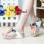 รองเท้าแฟชั่นสไตล์ fitflop หูคีบแต่งดอกไม้น่ารัก thumbnail 1