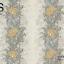วอลเปเปอร์ลายทางดอกไม้ใบไม้ใหญ่โทนสีเหลือง ฟ้า ขาว GAR3-B64W thumbnail 2