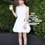 푸싱데이지 Pure white lily mini dress thumbnail 3