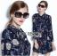 Lady Ribbon's Made Lady Caroline Funny Space Odyssey Printed Shirt Dress thumbnail 4