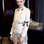 Lady Ribbon's Made Lady Chloe Insert Lace Embellished White Shirt Dress thumbnail 6