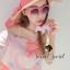 Set Pink Salmon Two Tone Dot and Bow Print Singlet & Skirt by Seoul Secret thumbnail 2