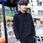 พร้อมส่ง เสื้อสเวตเตอร์ผู้ชาย สีดำ มีฮู้ด ไหมพรม แขนยาว เสื้อกันหนาวผู้ชาย แฟชั่นสไตล์เกาหลี thumbnail 2