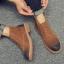 พร้อมส่ง รองเท้าบูทผู้ชาย สีน้ำตาล บุขน รองเท้าบูทหนัง แบบร้อยเชือก ใส่ง่าย ใส่ลุยหิมะ ใส่กันหนาว thumbnail 3