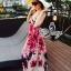 Sevy Sweet Summer Vacation Pink Beach Maxi Dress thumbnail 5