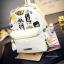 กระเป๋าเป้แบ็คแพ็คแฟชั่นสไตล์เกาหลี วัสดุหนัง pu เนื้อ Saffiano คุณภาพดี thumbnail 2