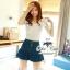 언발 나시블라우스 Angel wing blouse and denim short&#x2605 &#x2661Odee&Cutie Daily Fashion 2014&#x2661 thumbnail 1