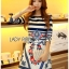 Lady Jennifer Casual Chic Striped and Floral Printed Dress thumbnail 1