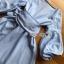 Lady Lola Dazzling Summer Blue Striped Cotton Ribbon Dress thumbnail 6