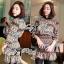 Lady Vera Mixed Print Botton-Down Mini Dress thumbnail 3