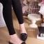 รองเท้าแฟชั่นคัทชูเปิดส้นหัวแหลมแต่งดอกไม้ด้านหน้า thumbnail 4