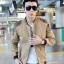พร้อมส่ง เสื้อแจ๊กเก็ตผู้ชาย คอจีน สีน้ำตาล แขนจั๊ม บ่าแต่งหนัง เอวจั๊ม ซิปหน้า thumbnail 1