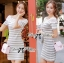 Lady Cherline Smart Casual Striped Lace Dress thumbnail 3