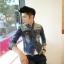 พรีออร์เดอร์ เสื้อแจ๊กเก็ตยีนส์แฟชั่น เสื้อยีนส์ สีฟ้า แขนยาว คอปก กระดุมแขน ใส่ขี่มอเตอร์ไซด์ ใส่เที่ยว ใส่ไปทำงาน ใส่ออกงานได้ thumbnail 8