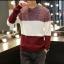 พร้อมส่ง เสื้อสเวตเตอร์ผู้ชาย สีขาวแดง แขนยาว เสื้อกันหนาว thumbnail 2