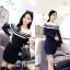Long Sleeve Double Strip Line Dress thumbnail 1