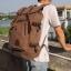 กระเป๋าเป้สะพายหลัง สีกาแฟ ผ้าแคนวาน กระเป๋าเป้ใบใหญ่สามารถใช้เป็นกระเป๋าเดินทางได้ จุของได้เยอะ thumbnail 2