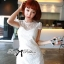 Lady Ribbon's Made Lady Pure White Blossom Embroidery Gala Mini Dress thumbnail 6
