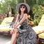 Cliona made' Lucy Charming Grey Summer Beach Long Dress thumbnail 6