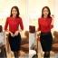เสื้อเชิ้ตสีแดงต้อนรับตรุษจีนประดับปกเพชร thumbnail 3