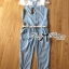 Lady Ribbon's Made Lady Mariesa Insert Embroidered Tulle Embellished Button-Down Denim Jumpsuit thumbnail 11