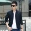 พร้อมส่ง เสื้อแจ็คเก็ต ผู้ชาย สีน้ำเงิน เสื้อคลุม ซิปหน้า คอจีน ซับในพิมพ์ลาย กระเป๋าข้างใช้งา thumbnail 1