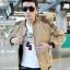 พร้อมส่ง เสื้อแจ๊กเก็ตผู้ชาย คอจีน สีน้ำตาล แขนจั๊ม บ่าแต่งหนัง เอวจั๊ม ซิปหน้า thumbnail 2