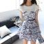 Lady Ribbon's Made Lady Blue Flora Mini dress thumbnail 2
