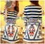 Lady Jennifer Casual Chic Striped and Floral Printed Dress thumbnail 3