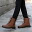 พร้อมส่ง รองเท้าบูทผู้ชาย รองเท้าหนัง รองเท้าหุ้มข้อ สีน้ำตาล แบบผูกเชือก ใส่แบบสุดเท่ thumbnail 2