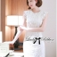 Lady Ribbon's Made Lady Jessica Classic Lace Dress in Ivory thumbnail 5