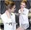 Lady Ribbon's Made Lady Chloe Insert Lace Embellished White Shirt Dress thumbnail 2