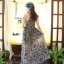 Cliona made' Lucy Charming Grey Summer Beach Long Dress thumbnail 10