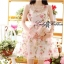 Lady Ribbon's Made Lady Ribbon Sweet Rose Organdy Mini dress thumbnail 4