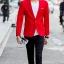 พร้อมส่ง เสื้อสูทผู้ชาย สีแดง แขนยาว กระดุมหน้าหนึ่งเม็ด แต่งขอบกระเป๋าอกสีขาว เสื้อเข้ารูป สูทแฟชั่นผู้ชาย thumbnail 3