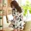 Lady Ribbon's Made Lady Rosie Classic Black and White Flowery Print Dress thumbnail 4