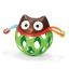 ยางกัด เขย่ามือ Skip hop roll around Owl/Bee ส่งฟรี thumbnail 3