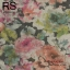 วอลเปเปอร์เทกเจอร์ผ้าลายดอกไม้สีโปสเตอร์ ออกโทนสีส้มชมพูกับเขียว FLR2-B56 thumbnail 1