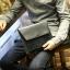 พร้อมส่ง กระเป๋าถือ กระเป๋าเอกสาร สีดำ มีช่องใส่บัตร ใส่โทรศัพท์ ใส่ ipad mini ได้ thumbnail 3