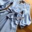Lady Lola Dazzling Summer Blue Striped Cotton Ribbon Dress thumbnail 4