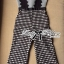 Lady Ribbon's Made Lady Rachel Mixed Check Fabric Jumpsuit thumbnail 10