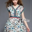 Lady Ribbon's Made Lady Jenny Super Chic Colorful Flower Printed Viscose Dress thumbnail 5