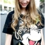 Lady Ribbon's Made Lady Micky Printed and Sequin Liz Hip-Hop Style T-Shirt Dress thumbnail 5