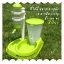 (พร้อมส่ง) ที่ให้น้ำและอาหารสุนัข สีเขียว thumbnail 1