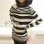 Sevy Korean Knit Striped Cardigan Jacket thumbnail 4