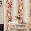 วอลเปเปอร์ลายทางดอกไม้ใหญ่โทนสีส้มวินเทจ GAR3-B58W thumbnail 1
