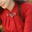 เสื้อเชิ้ตสีแดงต้อนรับตรุษจีนประดับปกเพชร thumbnail 4