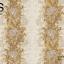 วอลเปเปอร์ลายทางดอกไม้ใบไม้ใหญ่โทนสีเหลืองอมทอง ขาว และสีกะปิ GAR3-B66W thumbnail 2