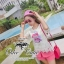 Crytal perfume lace t-shirt and pink shorts&#x2605 thumbnail 1