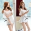 Lady White Blooming Lace Cut-shoulder Blouse thumbnail 3